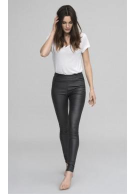 KAFFE ADA COATED JEGGINGS BLACK