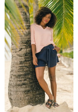 ONE TWO LUXZUZ LAILAH LIN SHORTS NAVY