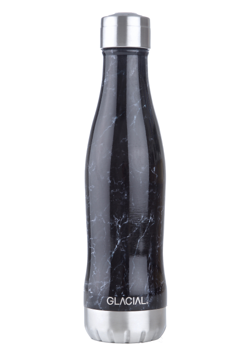 GLACIAL BOTTLE - WHITE MARBLE