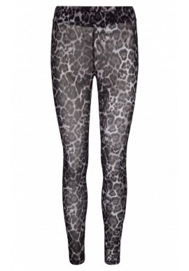 SOFIE SCHNOOR CHERRY LEGGINGS GREY LEOPARD