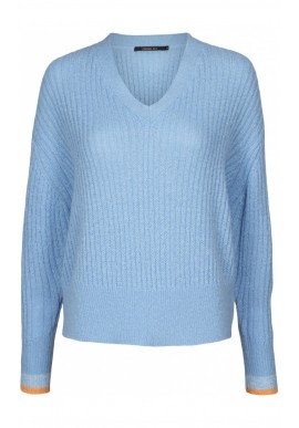 CADDIS FLY KNIT BLOUSE BLUE TA-3886