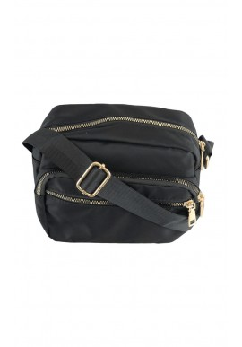 BLACK COLOUR VIGGY NYLON BAG BLACK