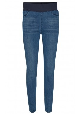 FREEQUENT SHANTAL PANT DENIM MEDIUM BLUE
