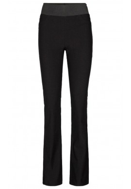 FREEQUENT SHANTAL PANT BOOTCUT POWER BLACK