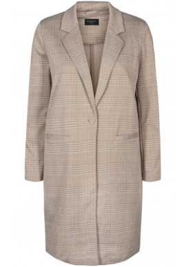 FREEQUENT NANNI JACKET EXTRA LONG CHECK