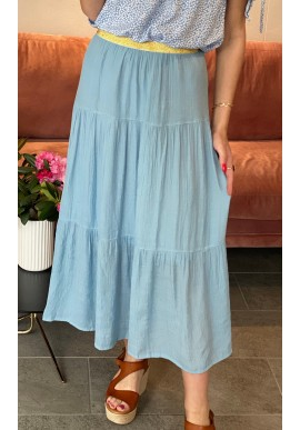 ONE TWO LUXZUZ FALKA SKIRT ICE BLUE