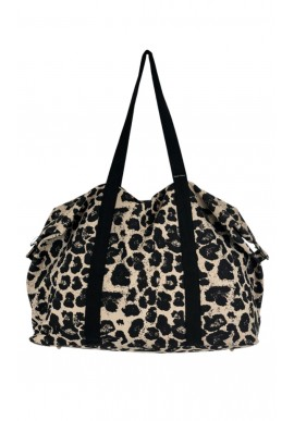 Black Colour Taske / Weekend Bag - Canvas Leo - Natural