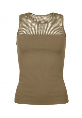 Tim & Simonsen Top - Mesh - Coffee