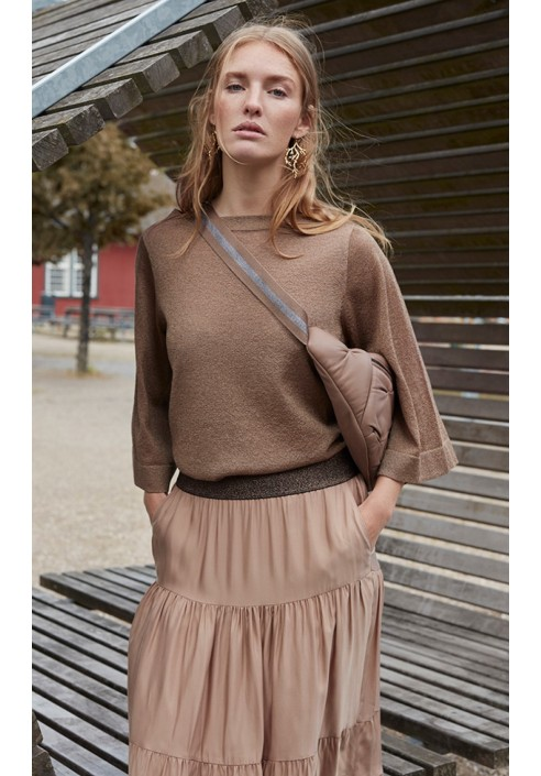 Gustav Knit - Arda Lurex - Tan
