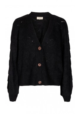 Freequent Cardigan - Hill - Black Solid