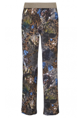 Gustav Bukser - Wide Leg Printed - Power W. Leaf Green