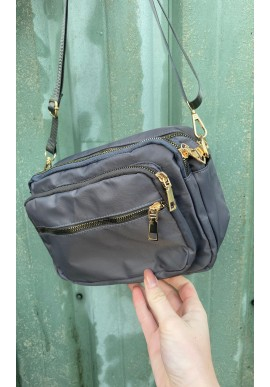 Black Colour Taske - Viggy Nylon - Grey