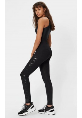 Black Colour Leggings - Joanne - Black