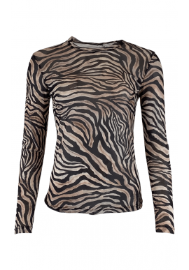 Black Colour Bluse - Annie Mesh - Zebra