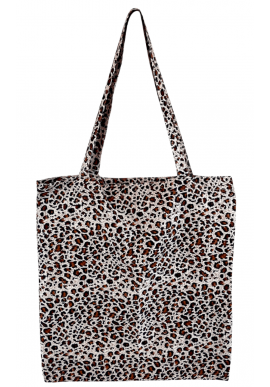 Black Colour Taske / Shopper - Lulu Blossom - Brown Leopard