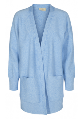 Freequent Cardigan - Claura - Chambray Blue