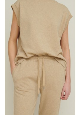 Basic Apparel Vest - Vendela - Camel Melange