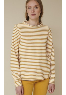 Basic Apparel Sweatshirt - Vendela - Inca Gold / Off White
