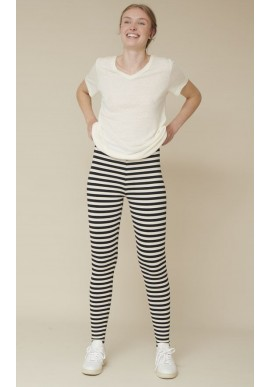 Basic Apparel Leggings - Elba - Black / Off White