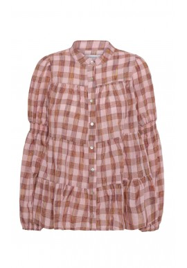 Continue Bluse - Sanna - Rose Check