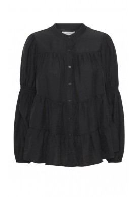 Continue Bluse - Sanna Solid - Black