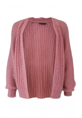 Black Colour Cardigan - Felicity short - Coral Pink