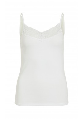 VILA Top - Officiel Lace Strap - Optical Snow