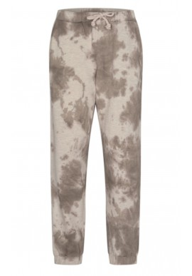 Freequent Bukser - Relaxed Tiedye - Silver Mink Melange