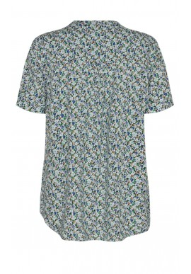 Freequent Bluse - Adney - Chambray Blue Mix