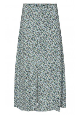 Freequent Nederdel - Agnes - Chambray Blue Mix