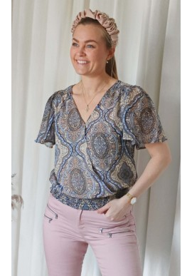 Freequent bluse - Nady - Chambray Blue Mix