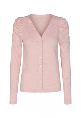 Freequent Cardigan - Livana - Silver Pink