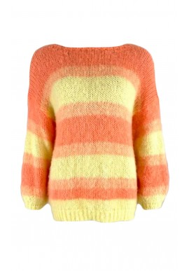 Black Colour Jumper - Avery Brushed - Peach