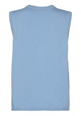 Freequent Vest - Amazy - Chambray Blue