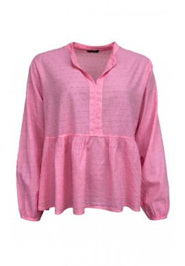 Black Colour Bluse - Frigg Cotton - Candy Pink
