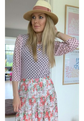 One Two Luxzuz Bluse - Puffy - Ice Pink