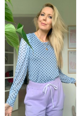 One Two Luxzuz Bluse - Puffy - Ice Blue