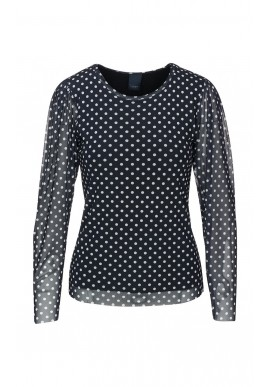 One Two Luxzuz Bluse - Puffy - Black
