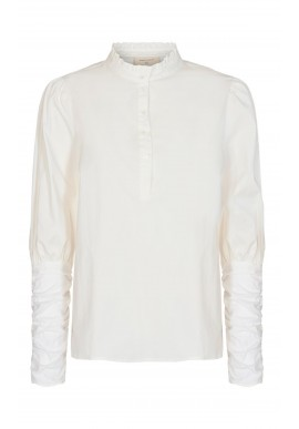 Freequent Bluse - Frances Flounce - Offwhite