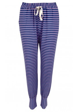Black Colour Bukser - Polly Jersey Striped - Jeans