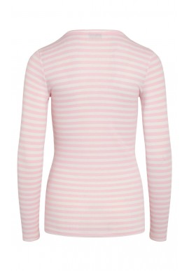Love & Divine Bluse - Love657 - White / Pink Icing