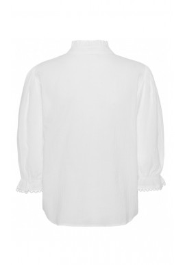 Continue Bluse - Isabella 3/4 Sleeve - White