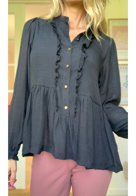 One Two Luxzuz Bluse - Liba - Black