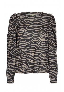 Freequent Bluse - Elcos - Silver Mink Mix