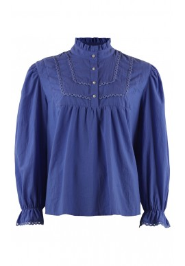 Continue Bluse - Isabella - Electric Blue