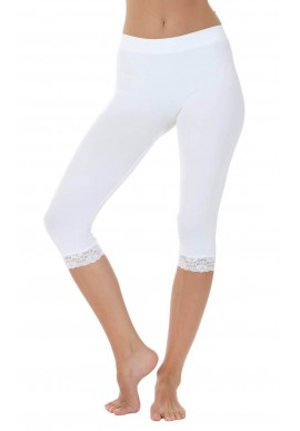 TIM OG SIMONSEN LEGGINGS W. LACE WHITE
